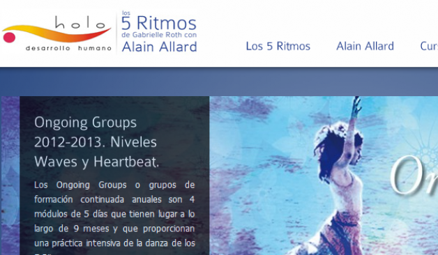 Gabrielle Roth's 5 Rhythms with Alain Allard in Spain