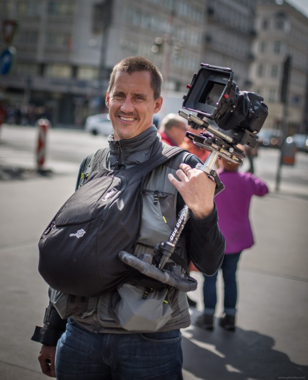 Mike Plonsky shooting in Vienna, Austria.