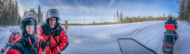 Andy Molloy & Mike Plonsky shooting an incentive trip in Lapland