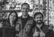 Pablo, Mike y María al terminar un evento en Montreux, Suiza.