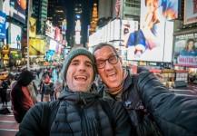 Mike y Ernesto en NY cubriendo un incentivo.
